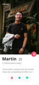 profile bio
