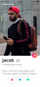 cool bio Tinder